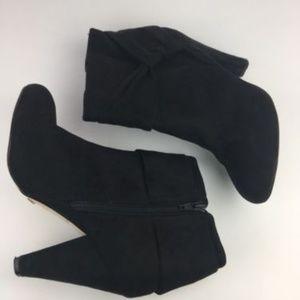 Aldo black suede heeled bootie